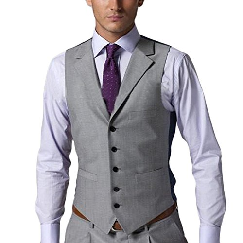 Love Dress Men's New Casual Slim Fit Vest Business Suits Three-piece L by Love To Dress (Image #1)
