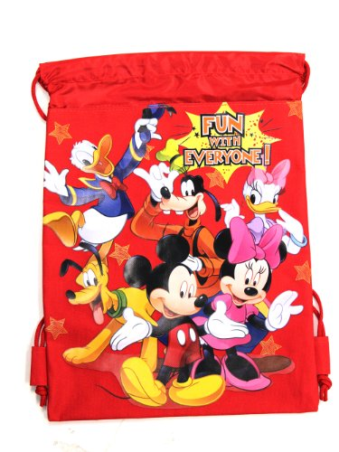 Red Mickey Mouse Drawstring Backpack
