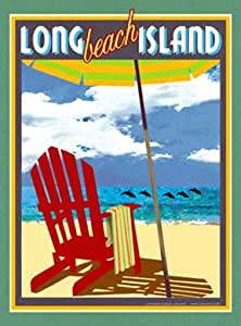 Amazon Com Long Beach Island Art Deco Style Vintage