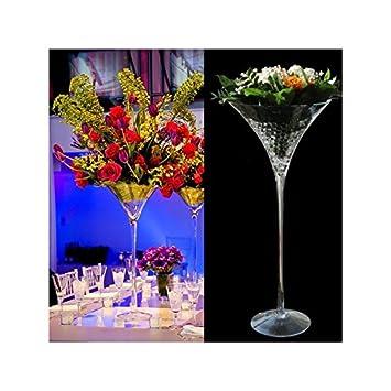 Amazon De Passiondecor Vase Martini Transparent 60 Cm Dekoration