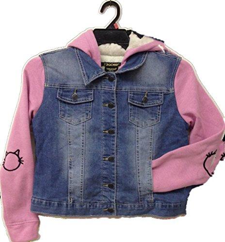 VIGOSS Girls' Hooded Jacket (Pink, 14) ()