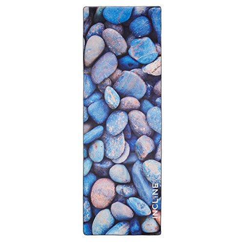 Incline Fit Yoga Towel Skidless Printed Hot Yoga Towel, River Rock