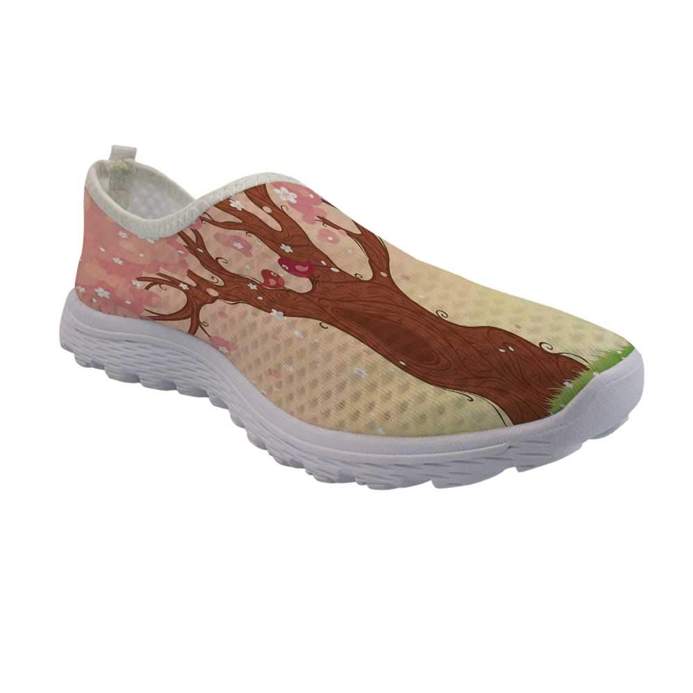 TecBillion House Decor Lightweight Walking Shoes,Indoor Swimming Pool of a Modern House with Spa Window Residential Interior for Women Girls,US Size 5