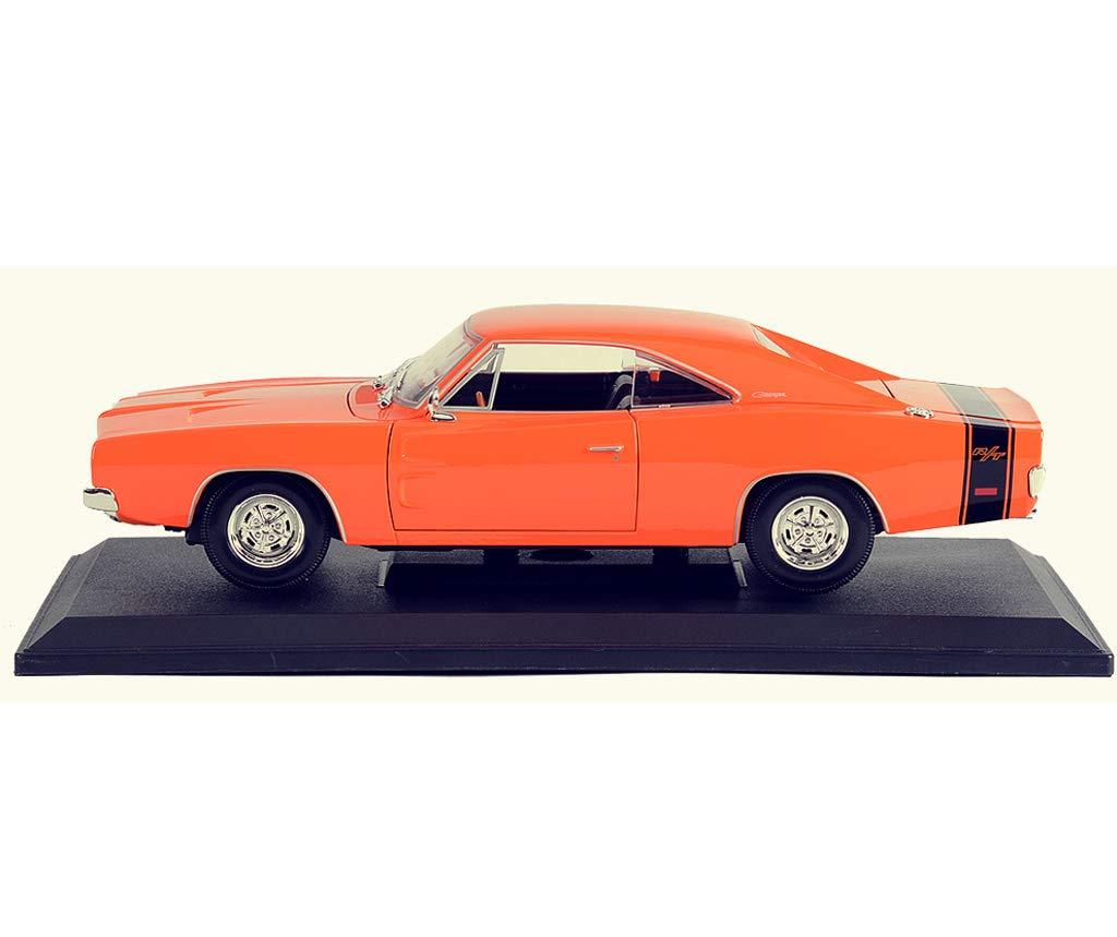 GYZS-TOY 1:18 1:18 1:18 Dodge Challenger Geschwindigkeit und Leidenschaft Schönheit Muscle Car Simulation Legierung Modell Dekoration (Farbe : Orange) df081d