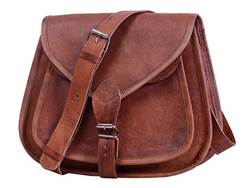 Komal's Passion Leather 10″ Women's Leather Purse Satchel Handbag Tote Bag