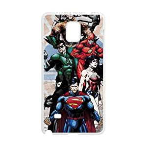 Justice League Heros Samsung Galaxy Note 4 Cell Phone Case White&Phone Accessory STC_007048