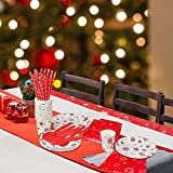 Christmas Party Plates 142 Pcs Christmas Disposable