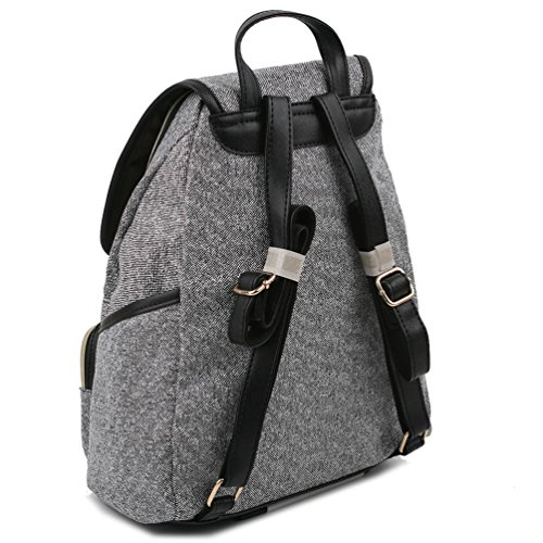 cad208c48cc Copi Womens Modern Deluxe Design Fashion Small Backpacks Black