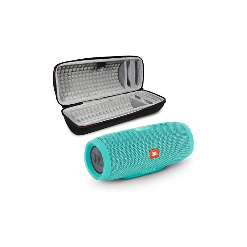 JBL Charge 3 Portable Wireless Bluetooth Speaker Bundle with Protective Case - Teal