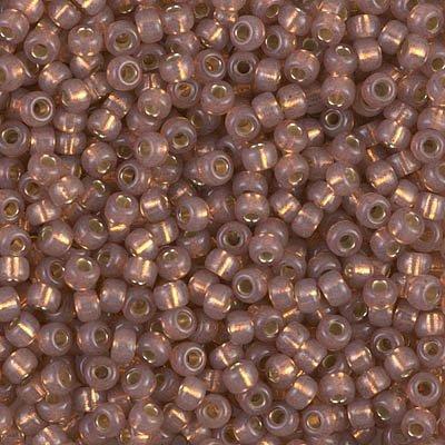 Miyuki Seed Beads 8/0 Dyed Rose Bronze Silver Lined Alabaster 10 grams 8-641 ()
