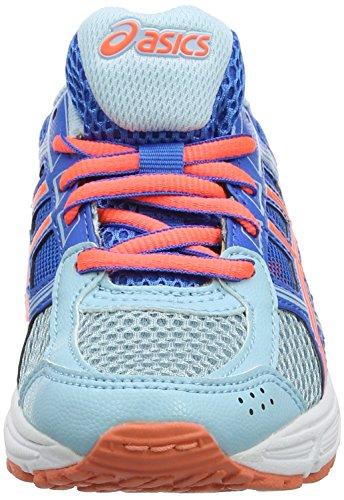 Asics Gel-Contend 4 GS, Zapatillas de Running Unisex Niños Azul (Porcelain Blue/flash Coral/directoire Blue 1406)