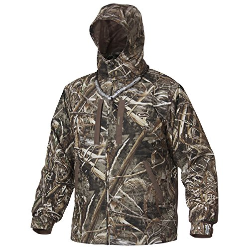 Drake EST Heat Escape Waterproof Full Zip 2.0 Jacket (Realtree Max5) (Large)
