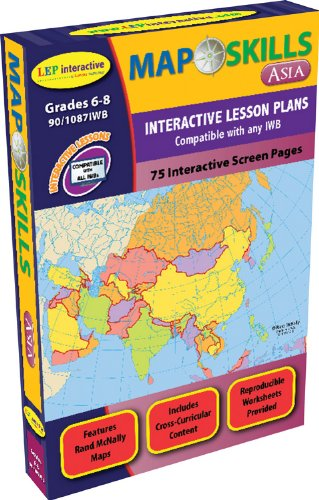 Map Skills: Asia IWB CD: Ready-to-use Digital Lesson Plans (Interactive Whiteboard Software, IWB Software CD)