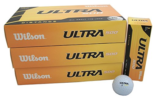3 15-pack NEW Wilson Ultra 500 Distance Golf Balls 45 Total
