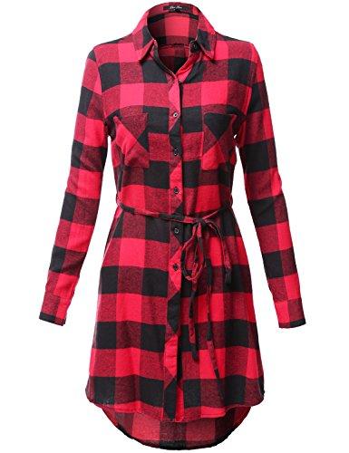 full skirt shirtwaist dress - 5