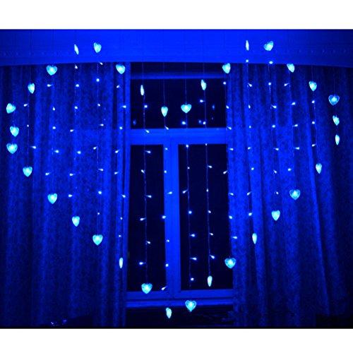 LEDMOMO 124 Leds Guirlande lumineuse Rideau de fênetre en forme du ...