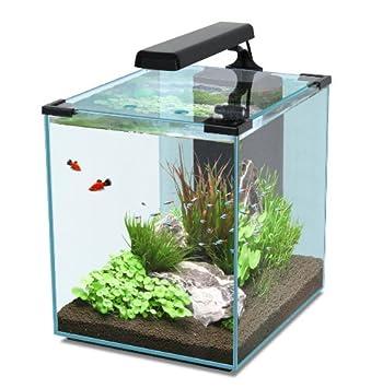 Nano Cubic 40 negro Acuarios Set, Nano Cube con iluminación LED, filtro, Bomba