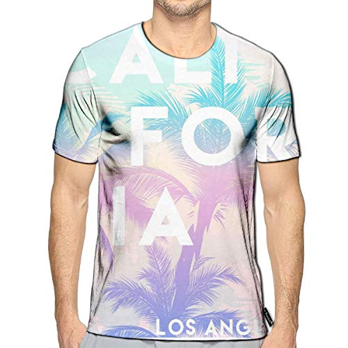 Randell 3D Printed T Shirts Summer Slogan California Casual Mens Hipster Top Tees (Top 100 Slogans On Environment For All Occasions)