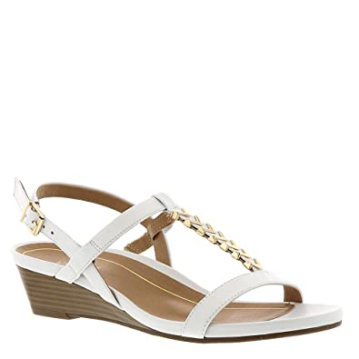 446626ca792 Vionic Port Cali - Womens Demi- Wedge Sandal White - 7 Medium ...
