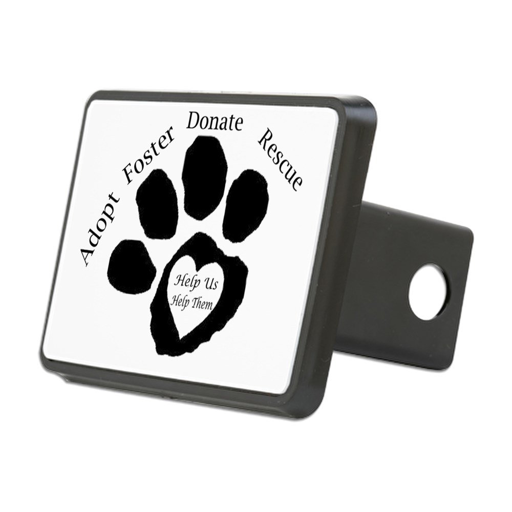 CafePress - Paw Print - Trailer Hitch Cover, Truck Receiver Hitch Plug Insert by CafePress