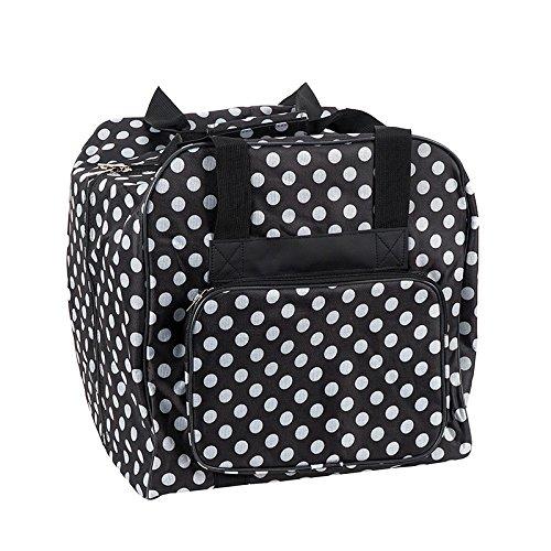 Hemline Dotty Serger Overlock Bag in Black Polka Dot (Serger Bag)