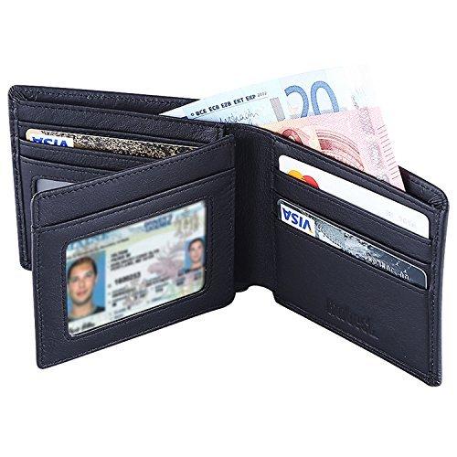 Hoobest RFID Blocking Genuine Leather Wallet for Men - Excellent as Travel...