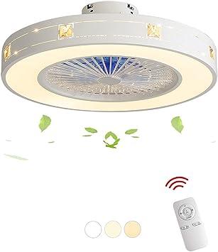 Mttdd Ventilador Ventilador de Techo Luz Led Velocidad Del Viento ...