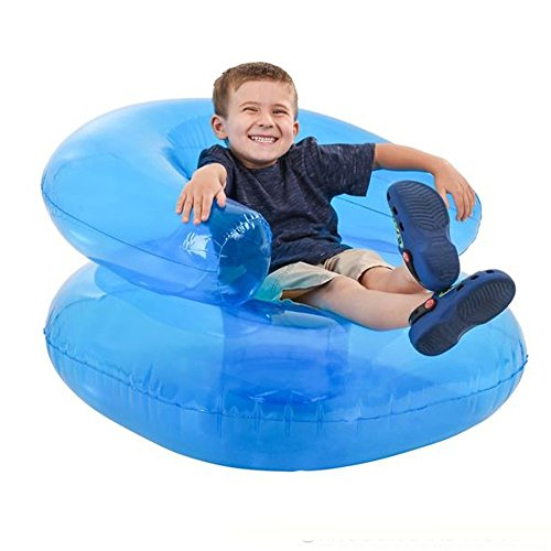 Kicko 36 Inch Inflatable Chair for Teens and Kids - Large Pool Float - Perfect for Baby Baths, Luau Parties, Water Adventure, Toddlers Novelty Toys, Party Favor, Decorations and Gifts