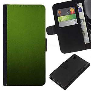 KLONGSHOP // Tirón de la caja Cartera de cuero con ranuras para tarjetas - Calmante Textura Monótono calma - Sony Xperia Z1 L39 //