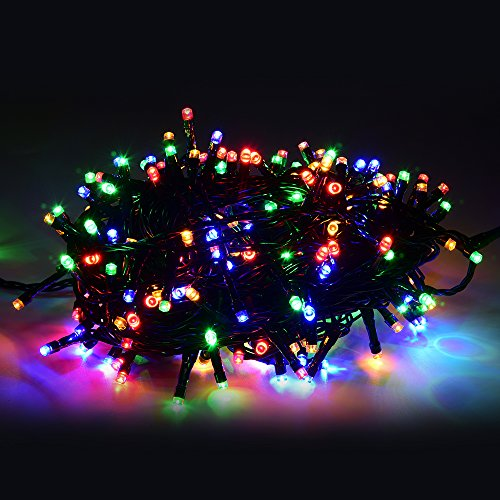 Led outdoor christmas lights amazon tiannorth 30m 100ft 200 led lights decorative christmas party festival twinkle string home tree colours mozeypictures Image collections