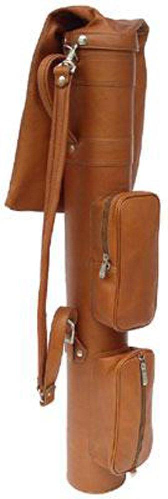 Piel Leather Executive Golf Travel Bag Blk, Black
