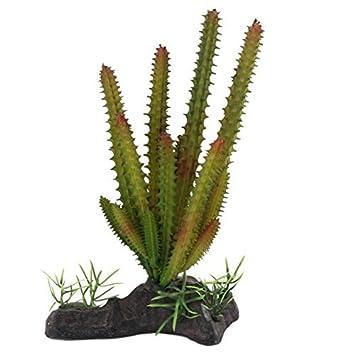 DealMux peces de acuario tanque artificial del paisaje de cactus Planta de decoración verde Negro: Amazon.es: Productos para mascotas