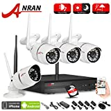 ANRAN 4CH Wireless NVR CCTV System 7200P IP Camera WIFI Waterproof IR Night Vison Home Security Camera Surveillance Kit 1TB HDD Plug Play, Free APP For Sale