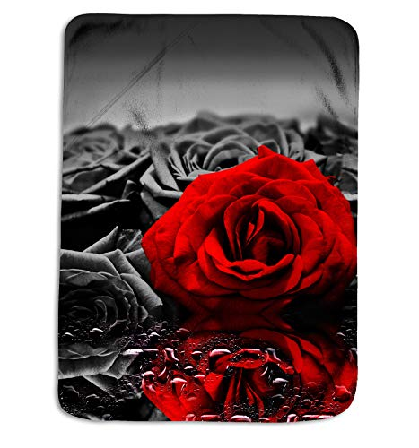 (Royal Linen Source Red Rose Plush Polyester Fleece Throw Blanket for Baby Blanket and Adult Blanket (JF542B))