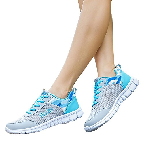 Azul de Gimnasio Running de Zapatos para Sneakers para Mujer Correr Señora Transpirables Casual Deporte Zapatillas Zapatillas Deportivas Deporte wqFZTxgx