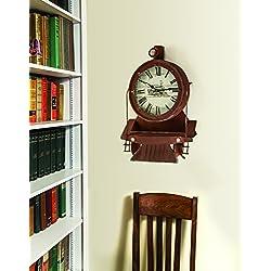 ArtFuzz Locomotive Wall Clock 13.75X19.25X4