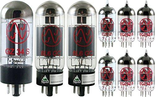 Fender Blackface Super Reverb Tube Set, JJ Tubes (x2 6L6GC, x4 12AX7, x2 12AT7, x1 5AR4) by JJ Electronic