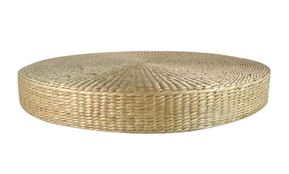 Handmade Straw Mat Thick Round Floor Mats Cushions, Natural Color 40x40x6 cm Dragon Sonic