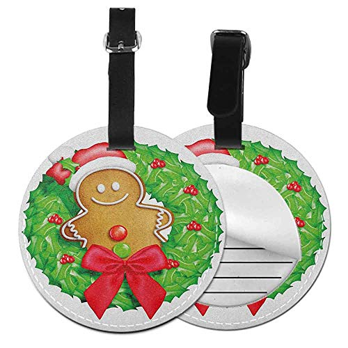 Gingerbread Man Printable - Small round luggage tag Gingerbread Man