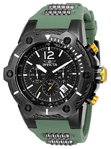 (Invicta Men's Bolt Stainless Steel Quartz Watch with Polyurethane Strap, Green, 23.5 (Model: 25471)