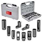 Carbyne 10 Piece Oxygen Sensor & Sending Unit Socket Set, Chrome Molybdenum Steel