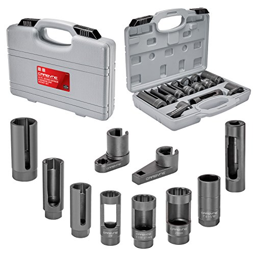 Carbyne 10 Piece Oxygen Sensor & Sending Unit Socket Set, Chrome Molybdenum Steel
