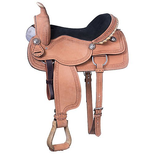 King Series Cowboy RO Barbwire Saddle 17 for sale  Delivered anywhere in USA