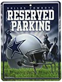 Rico NFL Dallas Cowboys 8-Inch by 11-Inch Metal Parking Sign Décor