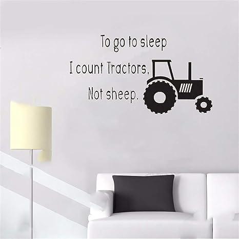 wandaufkleber selbst gestalten Traktoren schlafen für Jungen ...