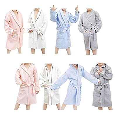 Deylaying Comfortable Soft Cotton Towel Kids Boys Girls Pajamas Bathrobes Hooded