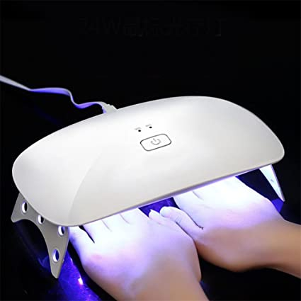 ZJHGJ 24W USB UV LED Lámpara de uñas, Portátil Secador de uñas Ligero Rápido Cura
