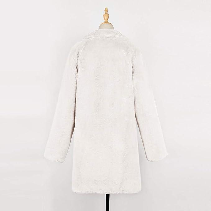 Luckycat Chaqueta Larga de Invierno de Piel sintética para Mujer de la señora de la señora Parka Outerwear: Amazon.es: Ropa y accesorios