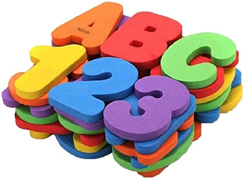 36pcs//Set Alphanumeric Letter Puzzle Baby Bath For Early Educational Suction Up