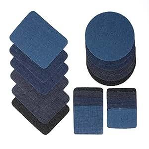 Gydandir - Parches para vaqueros, planchar o coser, 24 unidades, 4 tamaños